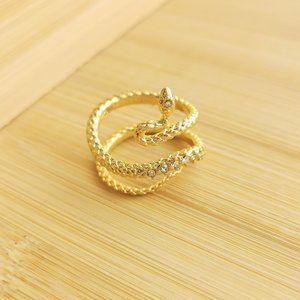Kendra Scott Phoenix gold snake wrap ring size 7